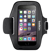 Buy Belkin Sport-Fit Armband for iPhone 6, Blacktop/Overcast Online at johnlewis.com