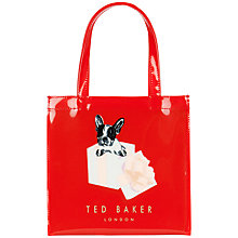 Buy Ted Baker Boxcon Graphic Small Shopper Bag, Bright Red Online at johnlewis.com