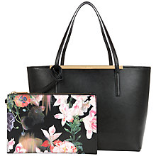 Buy Ted Baker Lilley Small Crosshatch Shopper Bag, Jet Black Online at johnlewis.com