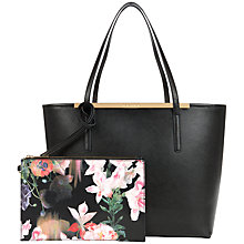Buy Ted Baker Tulip Large Crosshatch Shopper Bag, Jet Black Online at johnlewis.com