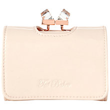 Buy Ted Baker Kryssi Leather Crystal Frame Purse, Nude Pink Online at johnlewis.com