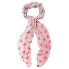 Buy Oasis Fluro Heart Scarf, Grey/Multi Online at johnlewis.com