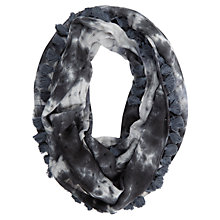 Buy Mint Velvet Amy Print Snood, Grey Online at johnlewis.com