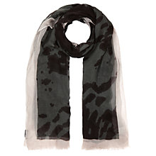 Buy Jigsaw Ink Blot Scarf, Khaki Online at johnlewis.com