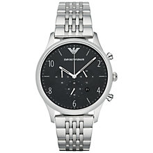 Buy Emporio Armani AR1863 Men's Beta Watch, Silver/Black Online at johnlewis.com