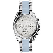 Buy Michael Kors Mk6137 Women's Blair Stainless Steel Watch, Silver/Blue Online at johnlewis.com