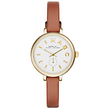 Buy Marc by Marc Jacobs Women's Sally Leather Strap Watch Online at johnlewis.com