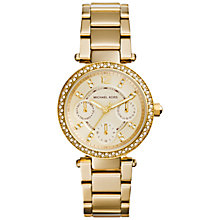 Buy Michael Kors Women's Parker Stainless Steel Bracelet Strap Watch Online at johnlewis.com