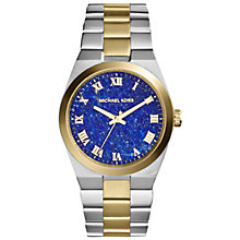 Buy Michael Kors MK5893 Women's Channing Bracelet Watch, Silver/Gold/Blue Online at johnlewis.com