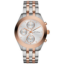 Buy Marc by Marc Jacobs MBM3369 Women's Peeker Chronograph Bracelet Watch, Silver/Rose Gold Online at johnlewis.com