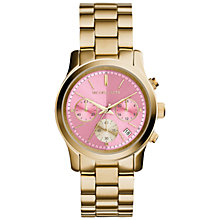 Buy Michael Kors Women's Runway Stainless Steel Bracelet Watch Online at johnlewis.com