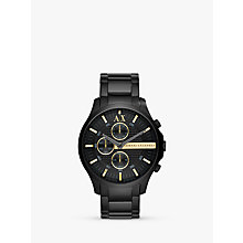 Buy Armani Exchange AX2164 Men's Hampton LP Bracelet Watch, Black Online at johnlewis.com