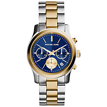 Buy Michael Kors Women's Runway Chronograph Stainless Steel Bracelet Strap Watch Online at johnlewis.com