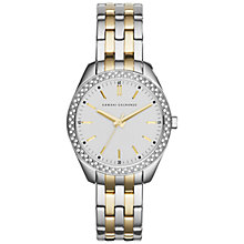 Buy Armani Exchange AX5519 Women's Sarena LP Bracelet Watch, Silver/Gold Online at johnlewis.com