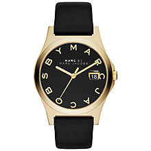 Buy Marc by Marc Jacobs MBM1357 Women's The Slim Leather Strap Watch, Black Online at johnlewis.com
