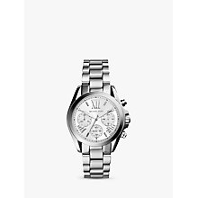 Buy Michael Kors MK6174 Women's Bradshaw Chronograph Bracelet Strap Watch, Silver Online at johnlewis.com