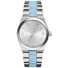 Buy Michael Kors MK6150 Women's Channing Bracelet Watch, Silver/Blue Online at johnlewis.com