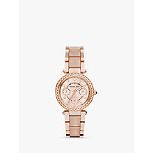 Buy Michael Kors MK6110 Women's Parker Stainless Bracelet Strap Watch, Rose Gold Online at johnlewis.com