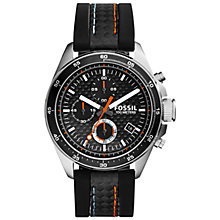 Buy Fossil CH2956 Men's Decker Chronograph Watch, Black Online at johnlewis.com