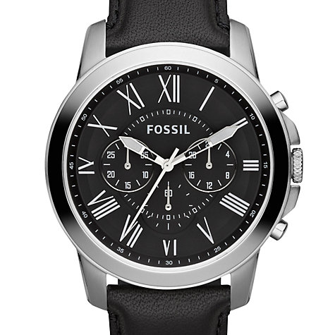buy fossil fs4812 men 39 s grant chronograph leather strap. Black Bedroom Furniture Sets. Home Design Ideas