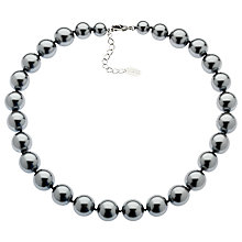 Buy Finesse Faux Pearl Necklace, Grey Online at johnlewis.com