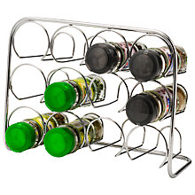 Buy John Lewis Pisa 12 Jar Spice Rack, Chrome Online at johnlewis.com
