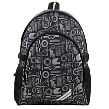 Buy John Lewis Children's Motocross School Back Pack, Black Online at johnlewis.com