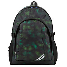Buy John Lewis Childrens' School Back Pack, Green/Black Online at johnlewis.com