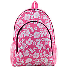 Buy John Lewis Children's Floral Print Back Pack, Pink Online at johnlewis.com