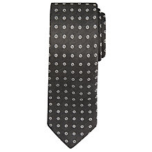 Buy BOSS Dot Pattern Silk Tie, Charcoal Online at johnlewis.com