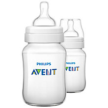 Buy Phillips Avent Classic Baby Bottle, Pack of 2, 260ml Online at johnlewis.com