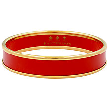 Buy Halcyon Days Plain Bangle, Deep Red/Gold Online at johnlewis.com