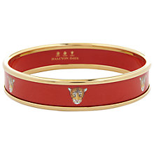 Buy Halcyon Days 18ct Gold Plated Enamel Leopard Head Bangle Online at johnlewis.com