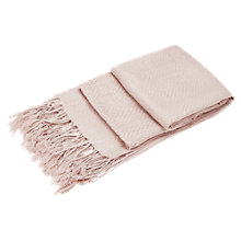 Buy Viyella Jacquard Scarf, Shell Pink Online at johnlewis.com