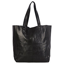 Buy Oasis Leather Unlined Shopper Bag Online at johnlewis.com