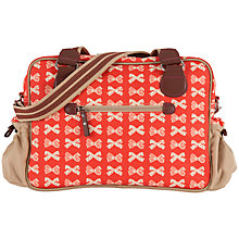 Buy Pink Lining Not So Plain Jane Bow Print Changing Bag, Red/Cream Online at johnlewis.com