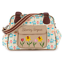 Buy Pink Lining Blooming Gorgeous Birdcage Print Tote Changing Bag, Yellow/Blue Online at johnlewis.com