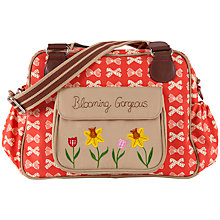 Buy Pink Lining Blooming Gorgeous Bow Print Tote Changing Bag, Red/Cream Online at johnlewis.com