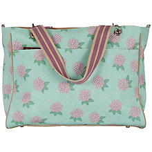 Buy Pink Lining Bramley Tote Hydrangea Changing Bag, Green Online at johnlewis.com