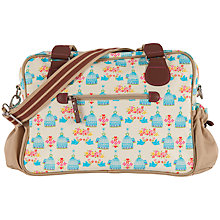 Buy Pink Lining Not So Plain Jane Birdcage Print Changing Bag, Yellow/Blue Online at johnlewis.com
