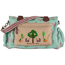 Buy Pink Lining Twins Hydrangea Print Changing Bag, Green/Pink Online at johnlewis.com