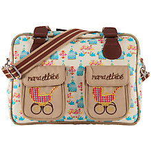 Buy Pink Lining Mama Et Bebe Birdcage Print Changing Bag, Yellow/Blue Online at johnlewis.com