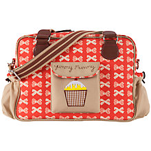 Buy Pink Lining Yummy Mummy Bow Print Changing Bag, Red/Cream Online at johnlewis.com