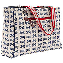 Buy Pink Lining Bow Print Bramley Tote Bag, Cream/Navy Online at johnlewis.com
