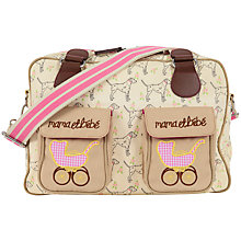 Buy Pink Lining Mama Et Bebe Dalmatian Print Changing Bag, Cream/Multi Online at johnlewis.com