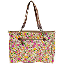 Buy Pink Lining Bramley Cottage Garden Print Tote Changing Bag, Multi Online at johnlewis.com
