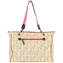 Buy Pink Lining Bramley Dalmatian Print Tote Changing Bag, Cream/Multi Online at johnlewis.com