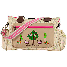 Buy Pink Lining Twins Sam Dalmatian Print Changing Bag, Beige Online at johnlewis.com