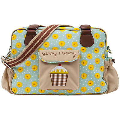 Pink Lining Yummy Mummy Sunflower Print Changing Bag BlueYellow