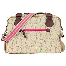 Buy Pink Lining Not So Plain Sam Dalmatian Print Changing Bag, Beige Online at johnlewis.com